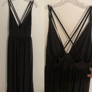 Forever 21 black maxi sheer dress